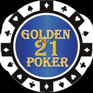 Golden 21 Poker Chip